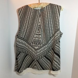 Rose & Olive Sleeveless Lined Blouse XL